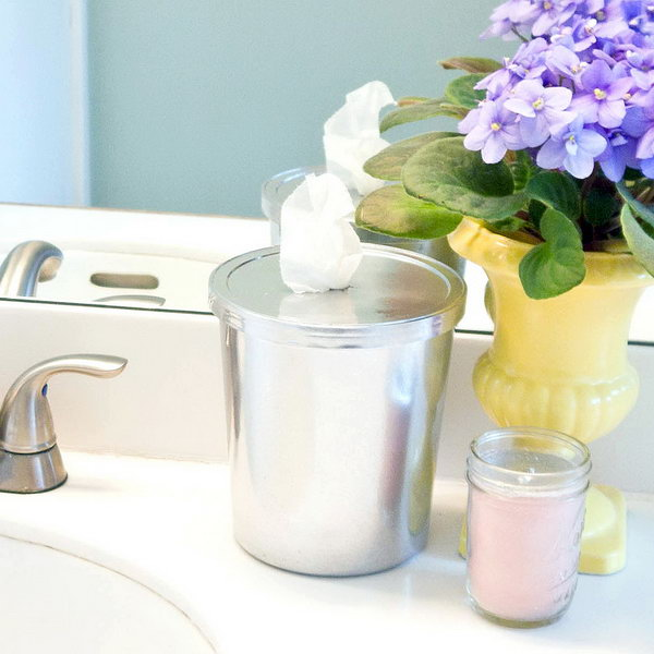 DIY Bathroom Wipes. See the tutorial