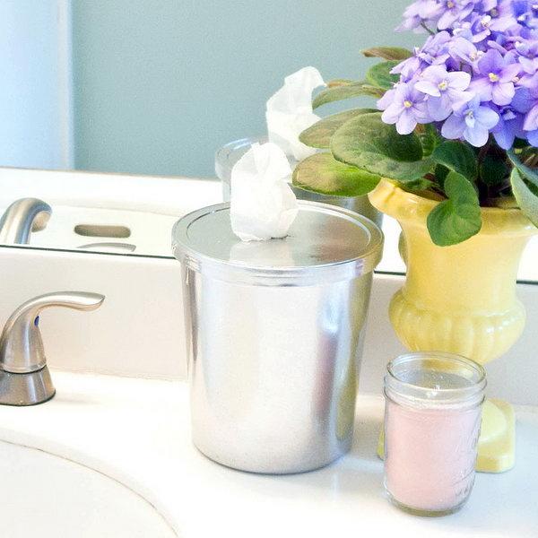 DIY Bathroom Wipes. See the tutorial