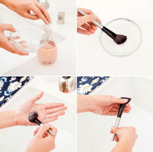 DIY Makeup Brush Cleaner. See the tutorial