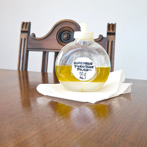 Homemade Furniture Polish. See the tutorial
