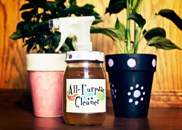 Homemade All Purpose Cleaner with Essential Oils. Learn how to make it and use it