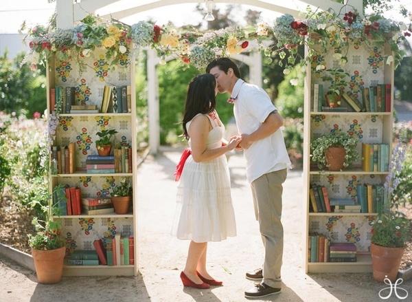 1 bookshelf wedding canopy