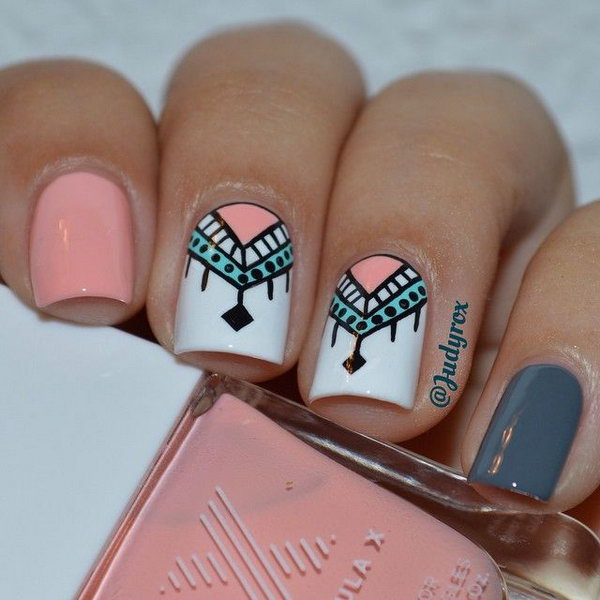 1 cool tribal nail art designs