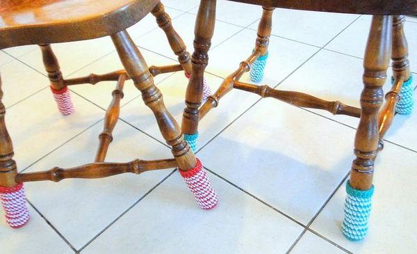 1 knitted chair socks