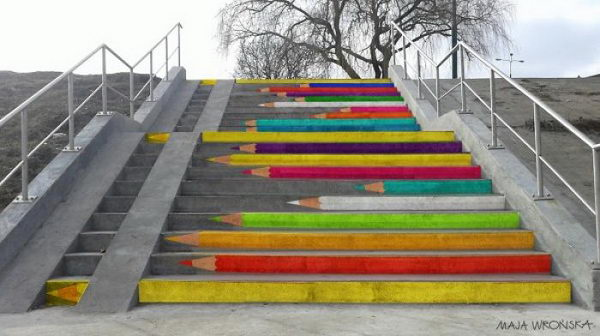 1 stairs street art