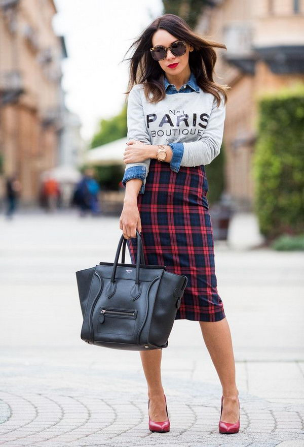 1 stylish pencil skirt ideas