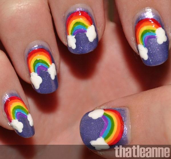 14 cool rainbow nail designs