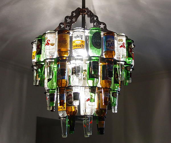80 homemade wine bottle crafts 2017 25 creative wine bottle chandelier ideas mozeypictures Gallery