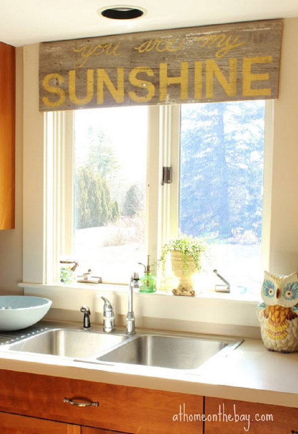 Kitchen Window Treatment Design Ideas ~ Creative kitchen window treatment ideas