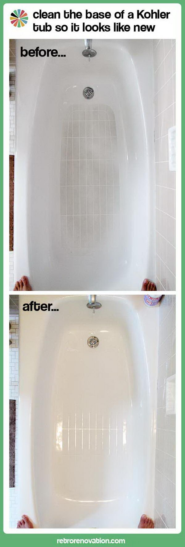 How to Clean Kohler Tub. Tutorial via