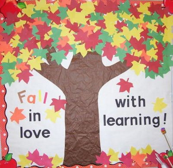 'Fall' in Love with Learning Bulletin Board.