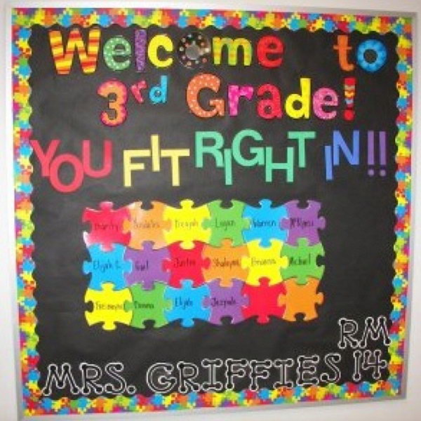 Back to School Puzzle Bulletin Board. Make your new students feel like a special part of the class with this creative puzzle board! Check out the tutorial