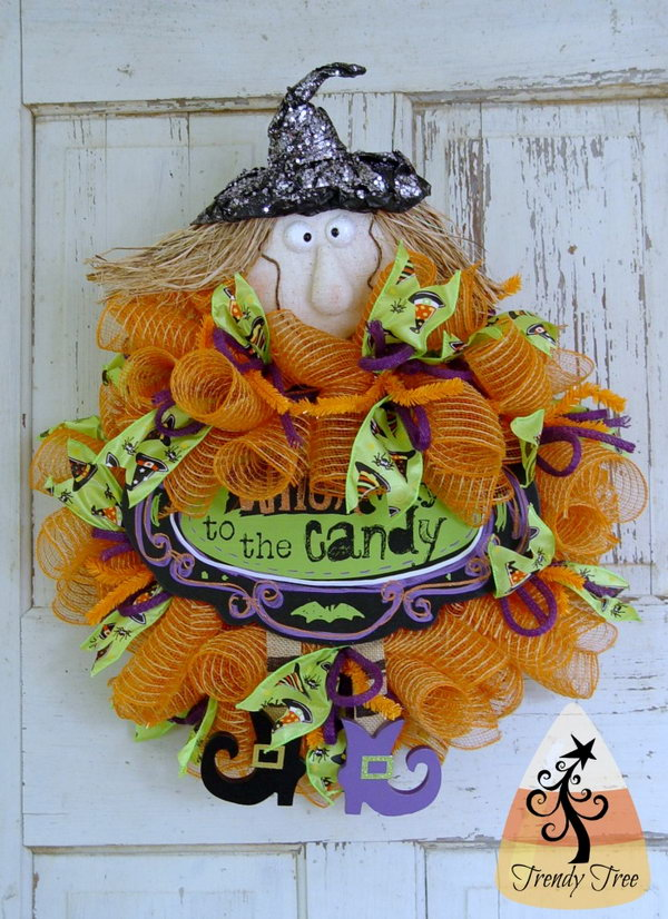 DIY Wicked Witchy Wreath.