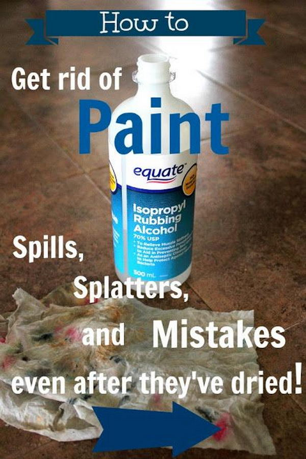 How to Get Rid of Paint Spills, Splatters, and Mistakes Even after They've Dried.