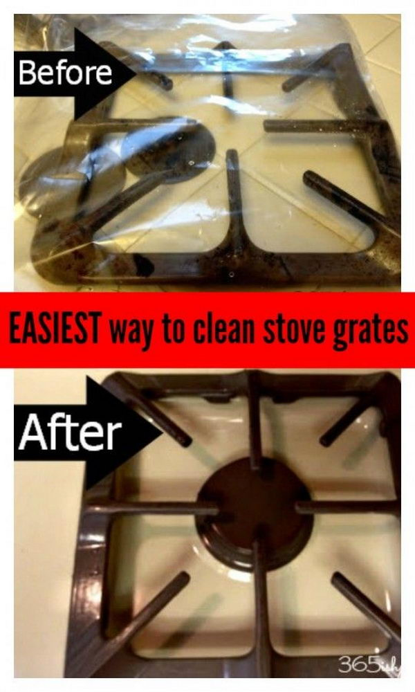 How to Easily Clean Stove Grates (No Scrub Way).