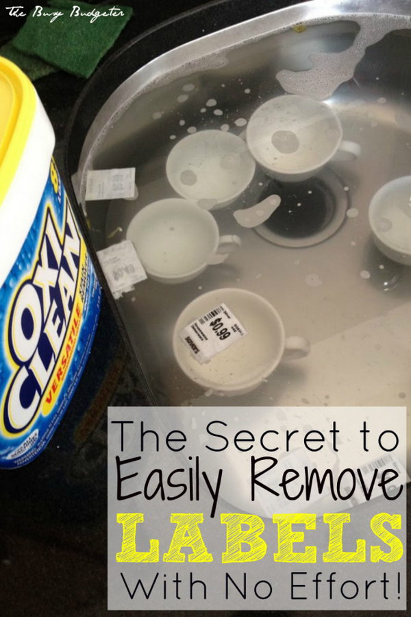 How to Easily Remove Labels off of Anything.