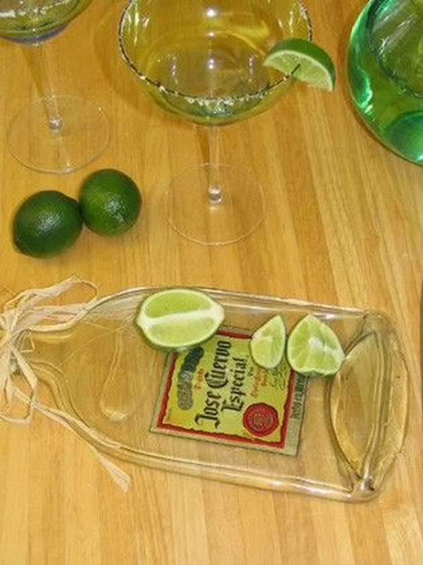How to Flatten Glass Bottles in a Kiln to make cutting boards or small serving trays.