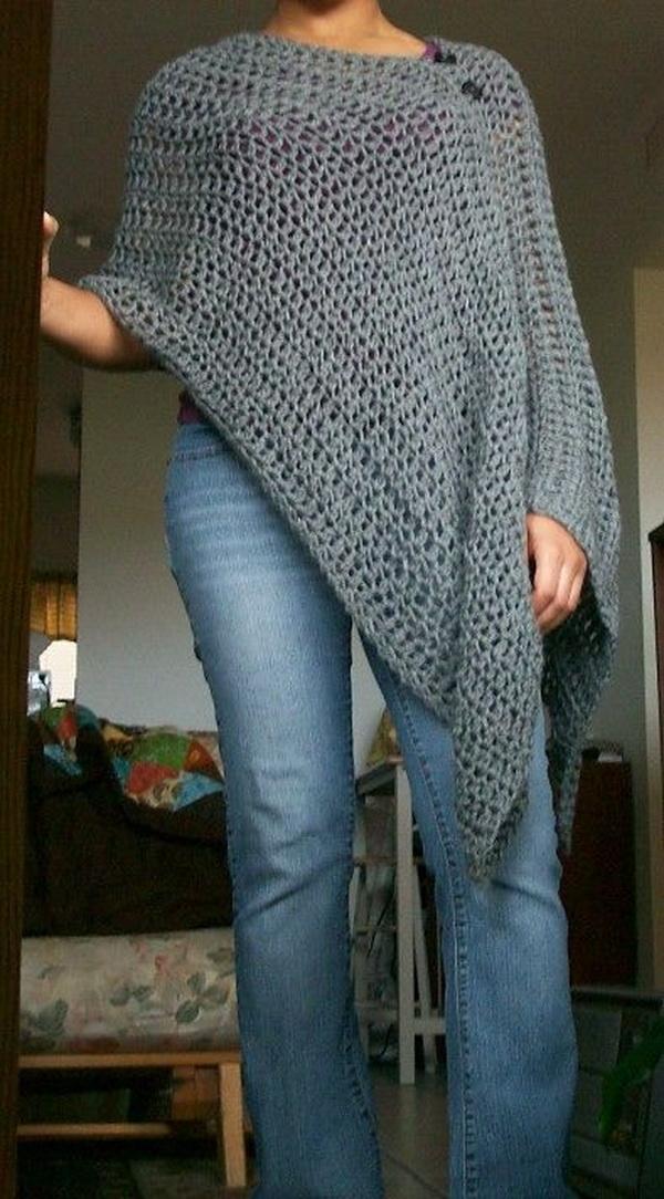 Loose Crochet Poncho.
