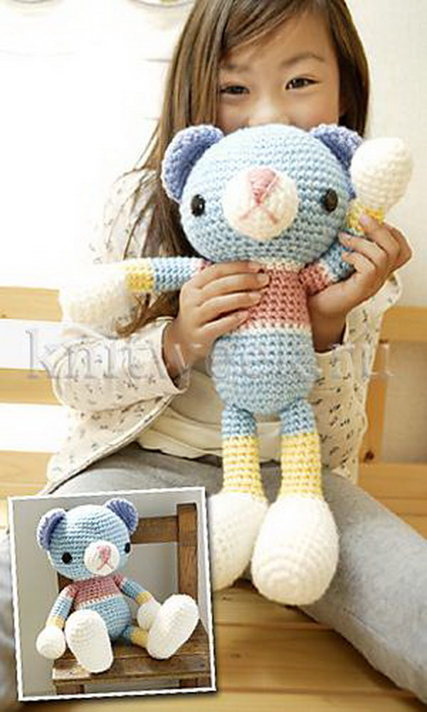 Cute Crochet Teddy Bear. Free pattern