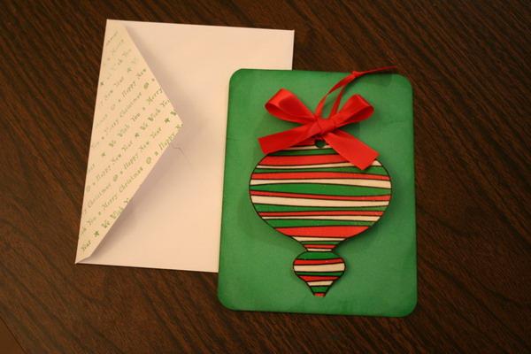 handmade xmas card ornament 1