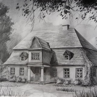 10+ Beautiful House Pencil Drawings for Inspiration