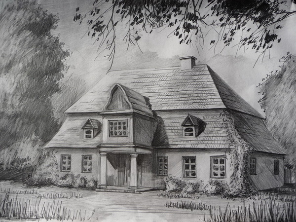 10  beautiful house pencil drawings for inspiration 2017