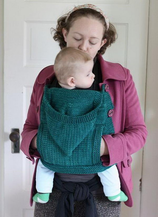 Cool Baby Warm Carrier. What a cool idea for you and your baby! It keeps your hands warm outside this winter.