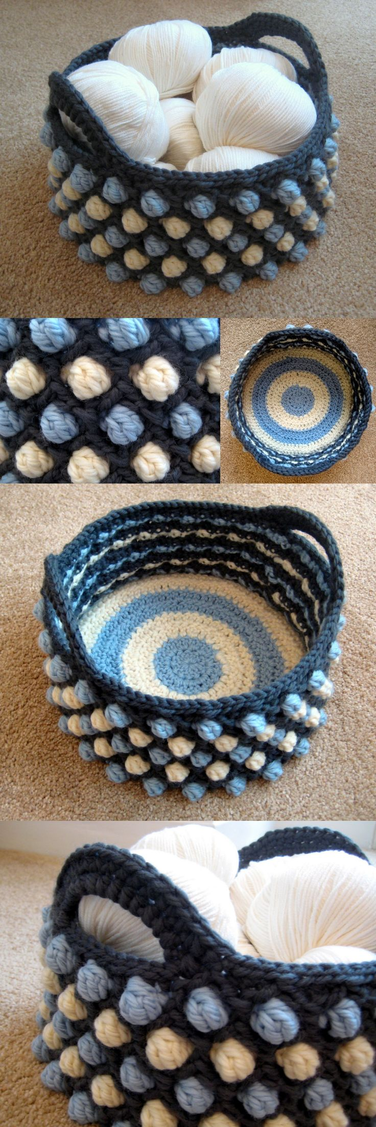 Honeycomb Pop Basket. Beginner's perfect crochet project. Make gorgeous honeycomb pop basket for storage and organization. Tutorial via