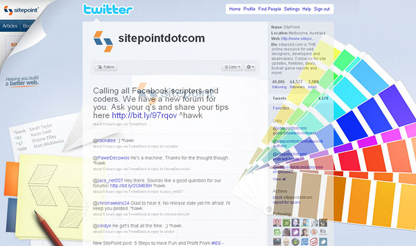 twitter layouts sitepoint