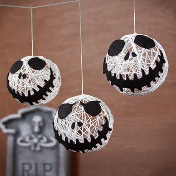 25 easy and cheap diy halloween decoration ideas 2017 - Jack skellington decorations halloween ...