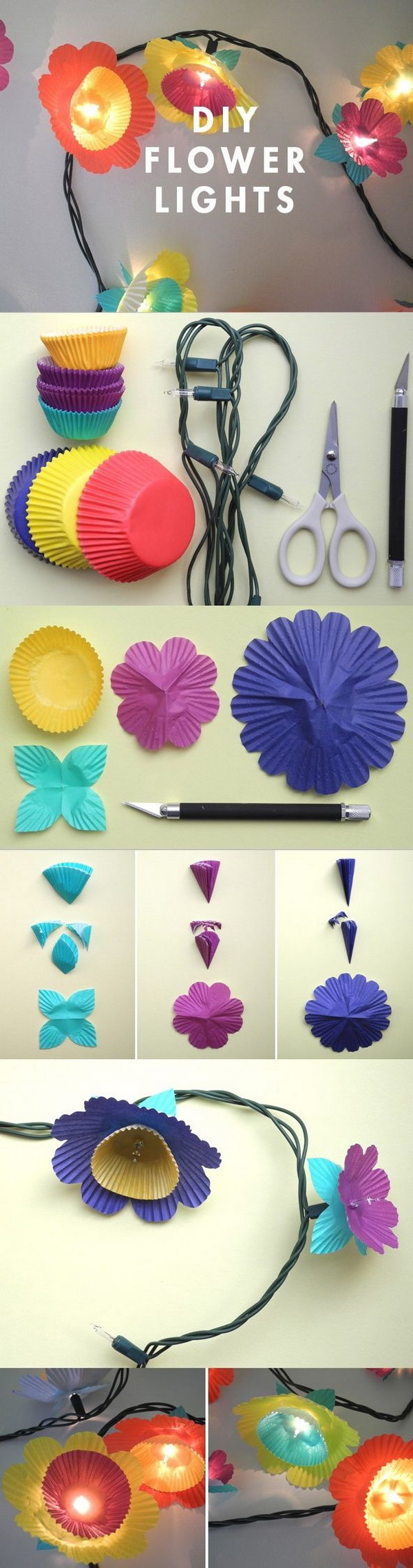 DIY Flower Lights.
