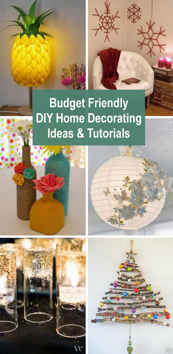 Budget Friendly DIY Home Decorating Ideas & Tutorials 2017