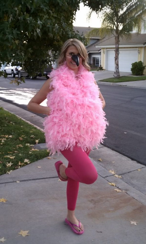 Fun and Cute Flamingo costume.