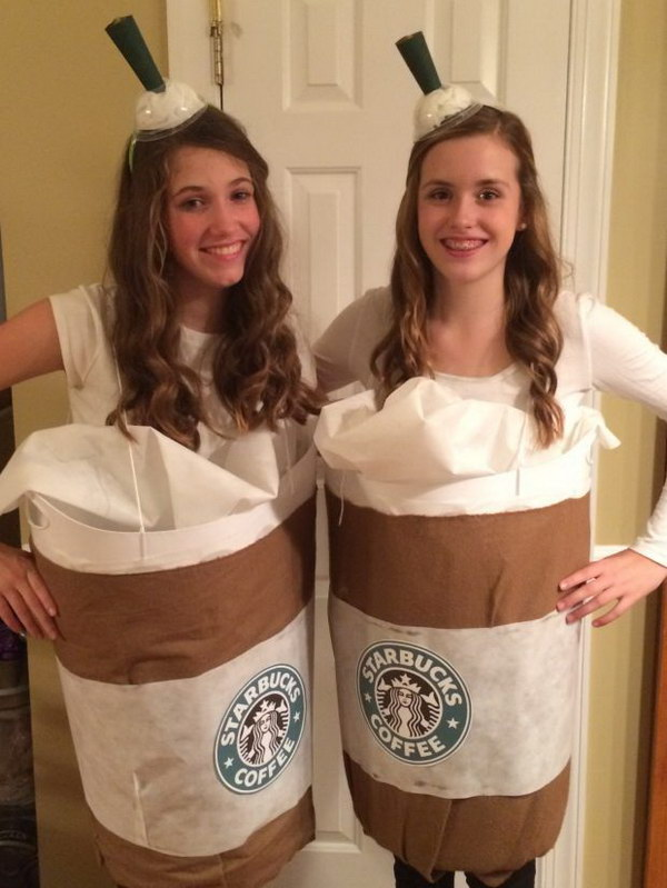 Cute Starbucks Halloween Costume.