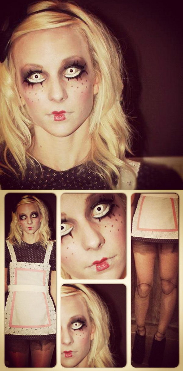 DIY Creepy Doll Costume.