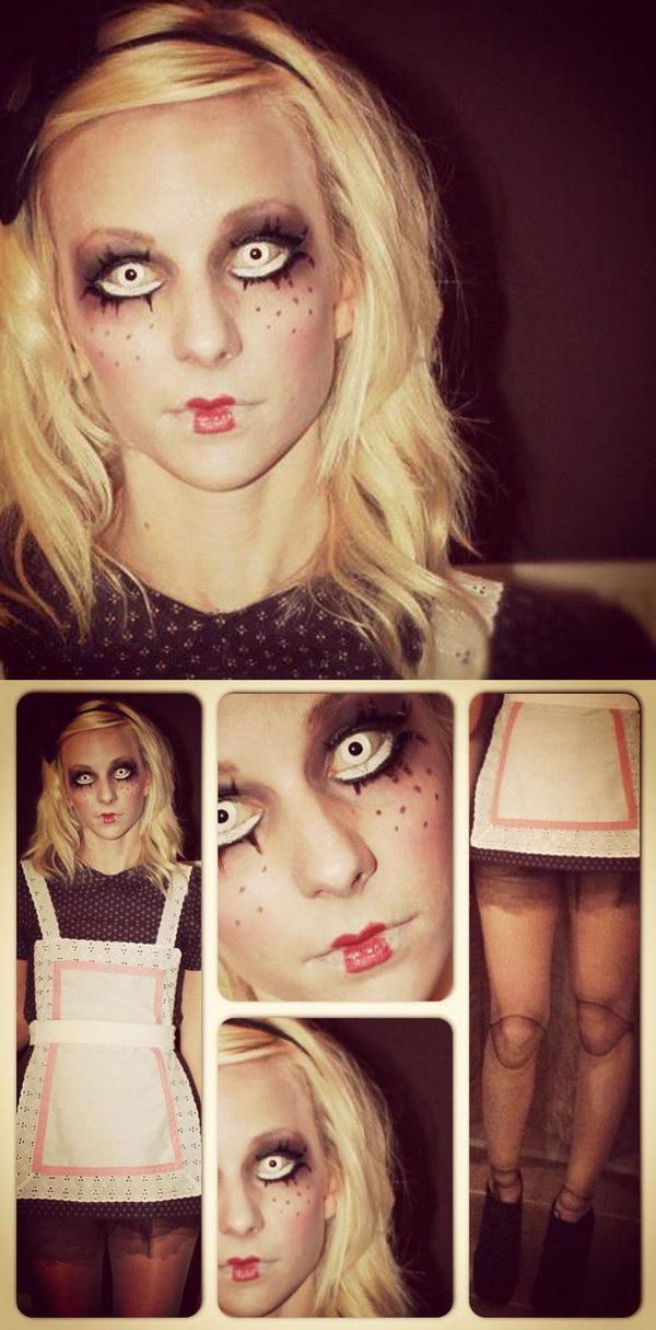 DIY Creepy Doll Costume.