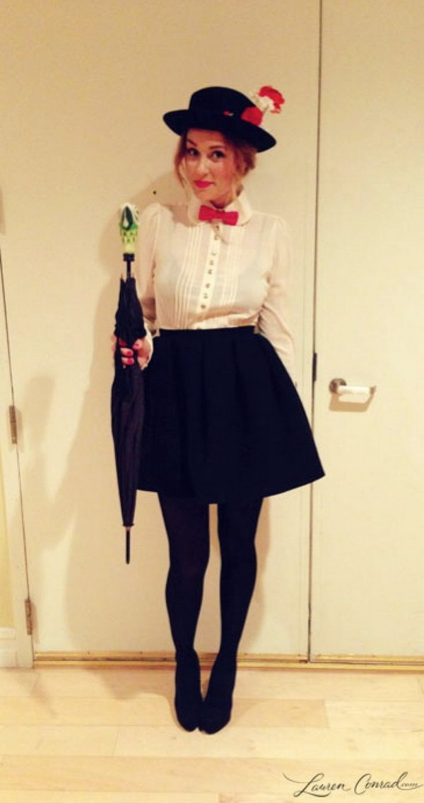Lauren Conrad dressed up as Mary Poppins.