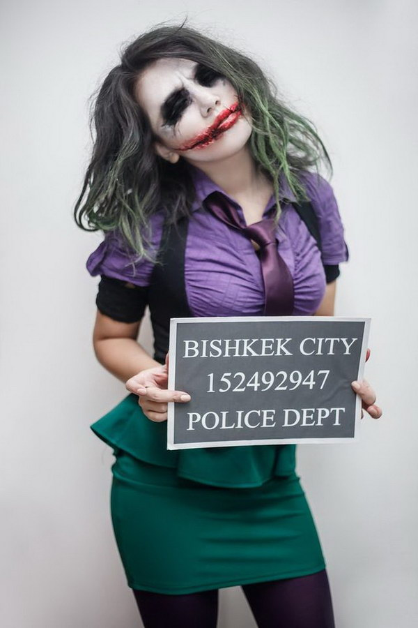 Lady Joker Halloween Costume.