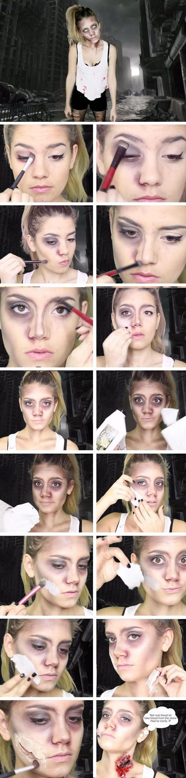 Easy Zombie Makeup Tutorial