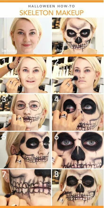 Creepy Skeleton Look Makeup Tutorial