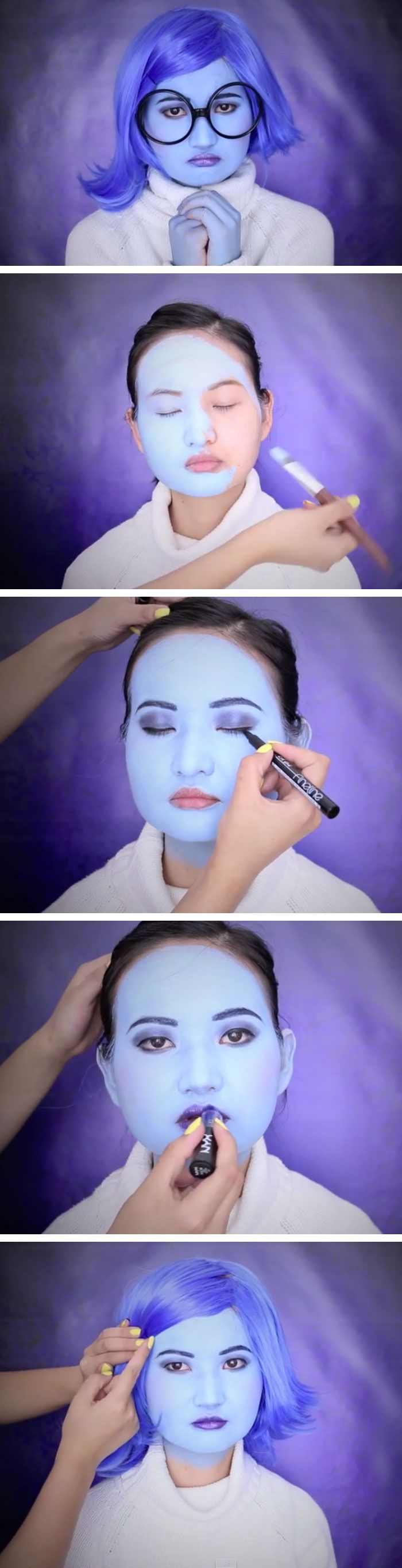 Inside Out Sadness Makeup Tutorial