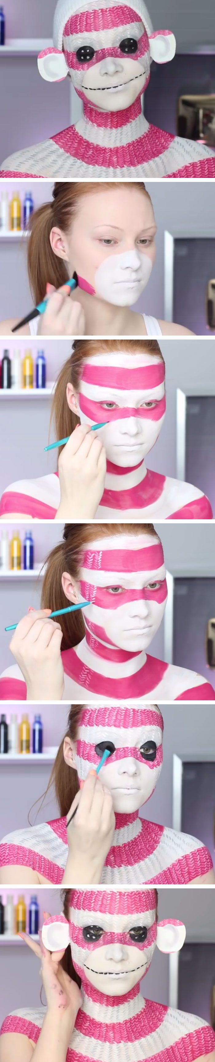 Sock Monkey Makeup Tutorial
