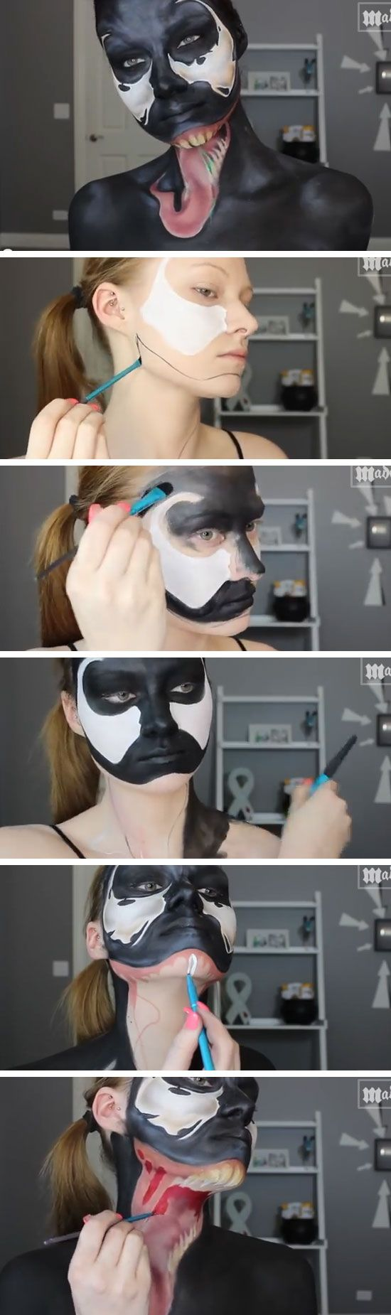 Spiderman  Venom Makeup Tutorial