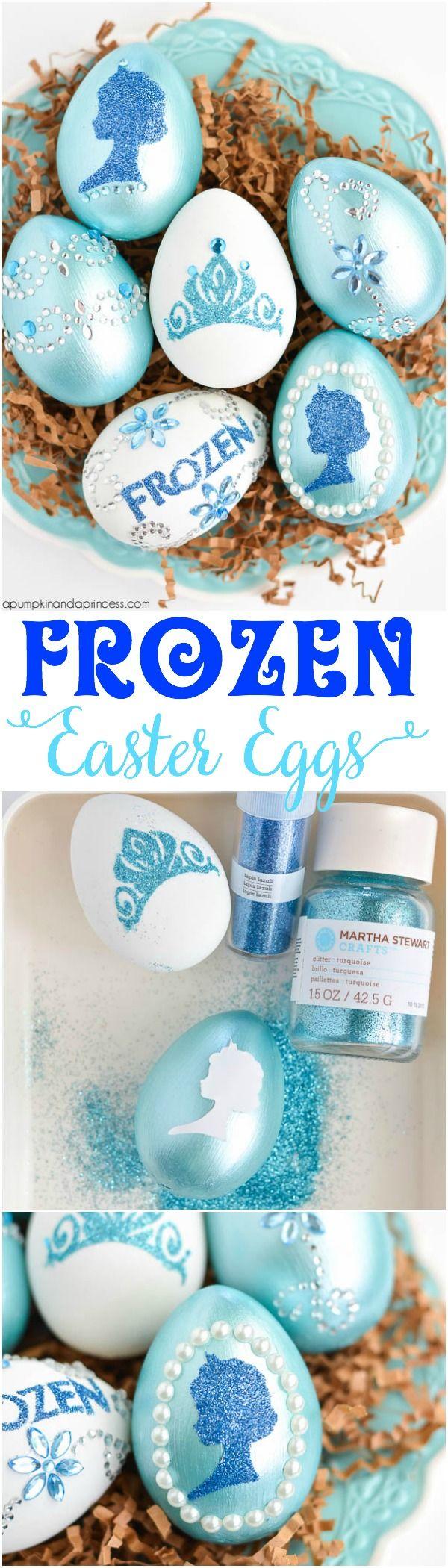 DIY Disney Frozen Easter Eggs.