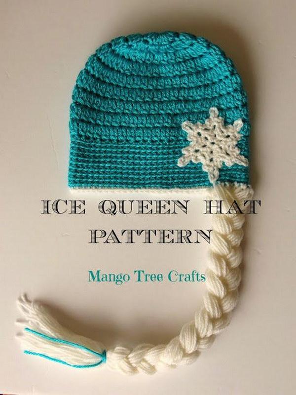 Elsa Inspired Crochet Hat Free Pattern.