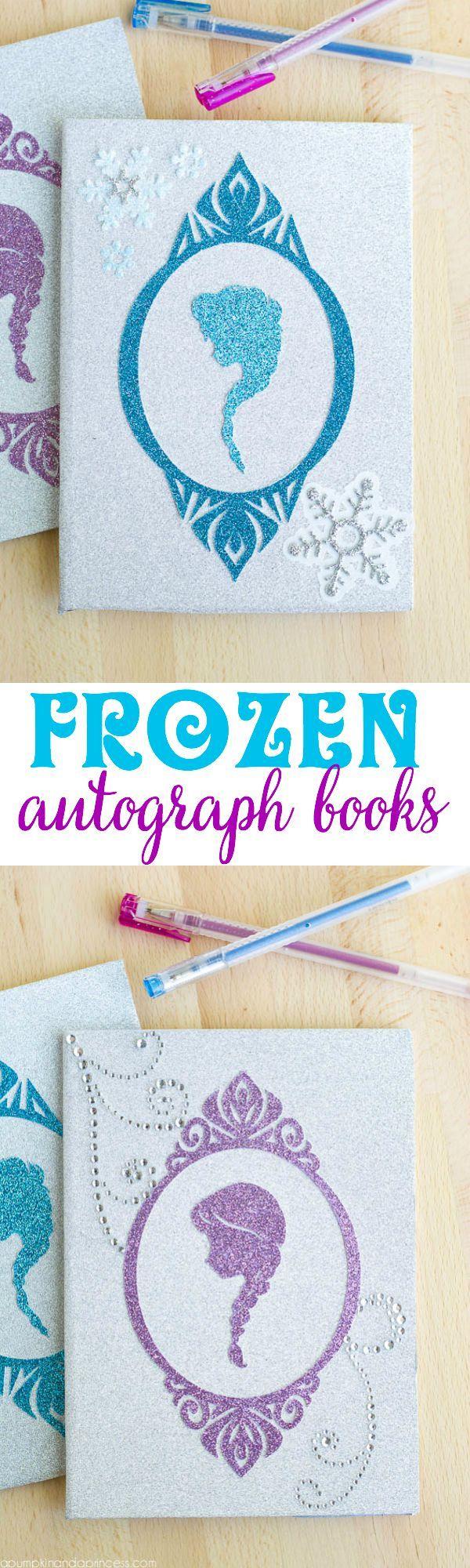 DIY Frozen Autograph Books.