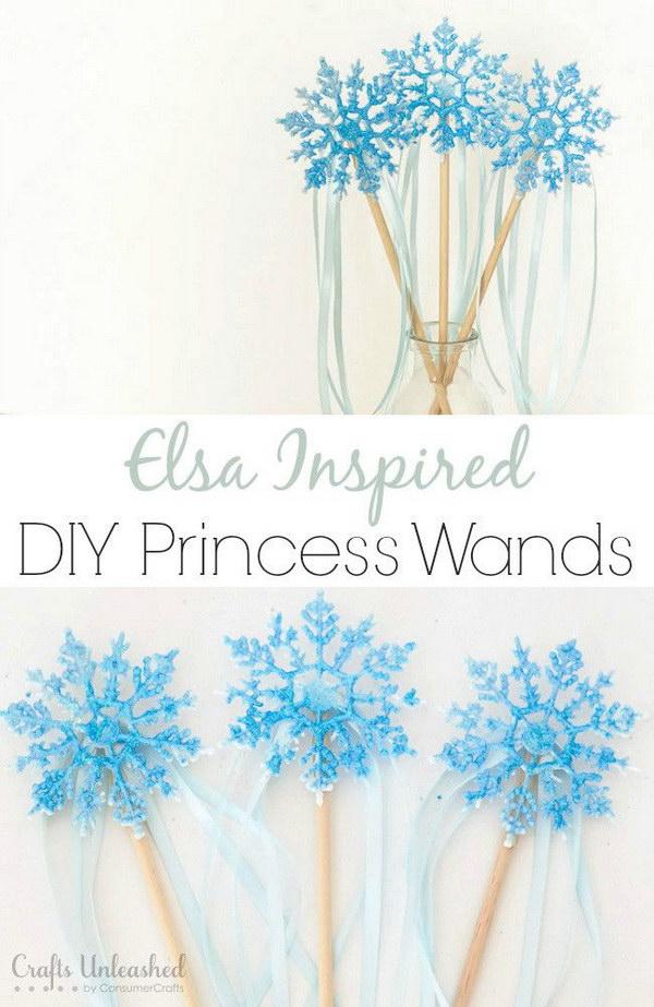DIY Princess Elsa Inspired Wand.