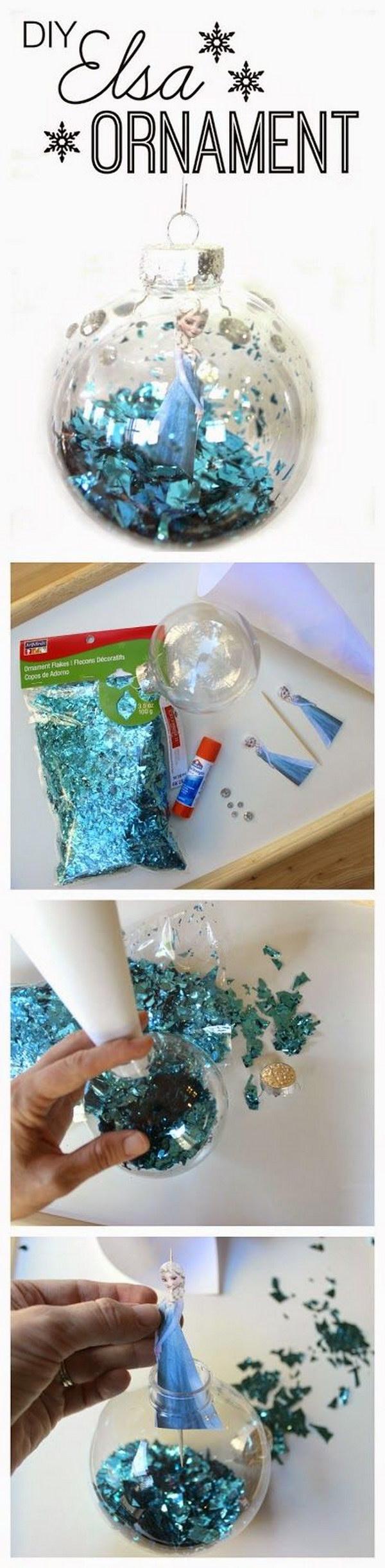 DIY Frozen Ornament.