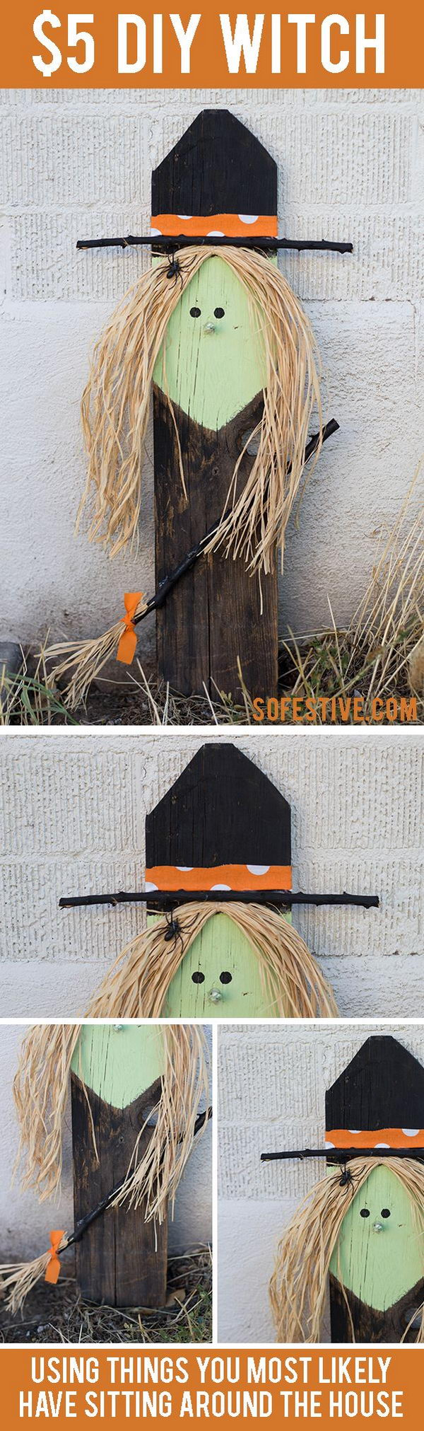 Easy and Quick DIY Halloween Witch .