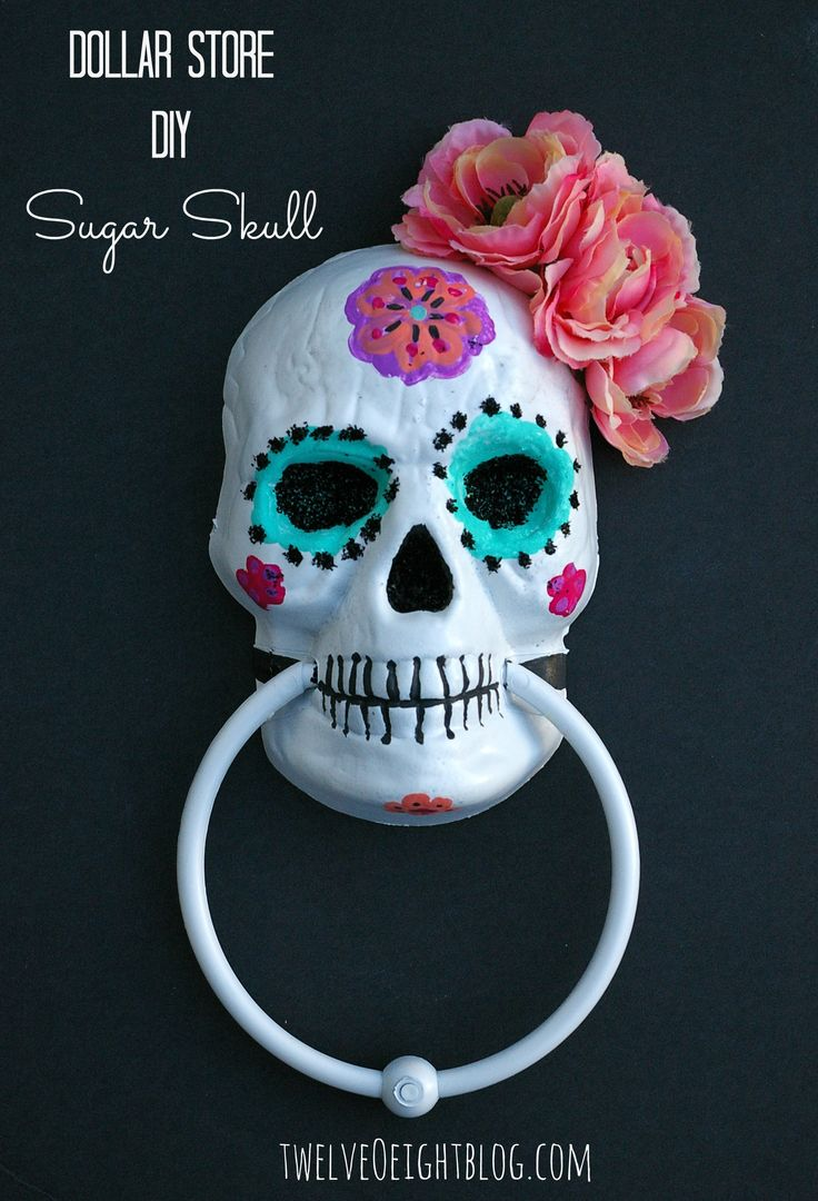 Dollar Store Painted Sugar Skull.